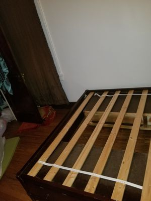 Queen bed frame with mattress and storage for Sale in Pittsburgh, PA