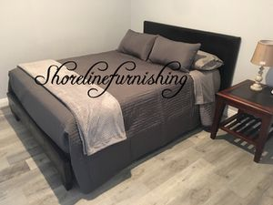 New Queen Size Frame and Mattress for Sale in Buena Park, CA