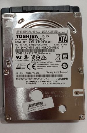"Laptop 2.5"" 500GB hard drives HDDs Seagate Toshiba for Sale in Buffalo Grove, IL"