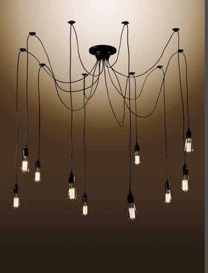 Warehouse of Tiffany in Black 10-Light Industrial Zendaya Draped Chandelier for Sale in Las Vegas, NV