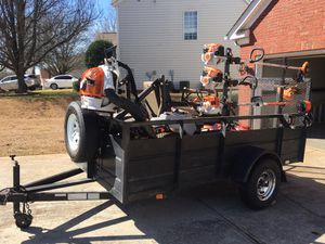 Commercial Exmark lazer 48 inch and trailer 12 ft for Sale in Lawrenceville, GA