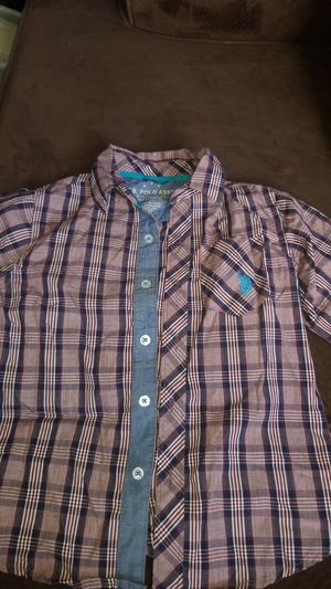 Boy U.S. Polo Assn. Button Up Shirt size L (7) for Sale in Lemon Grove, CA