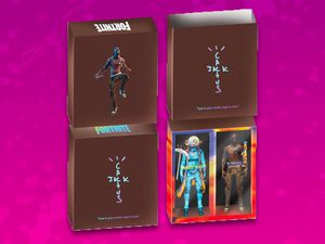 Travis Scott Cactus Jack Fortnite 12 Action Figure Duo Set Toy for Sale in Saint Charles, MD