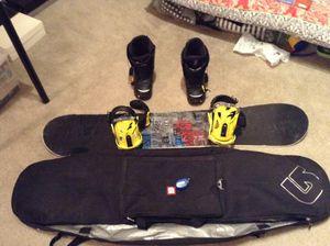 Burton snowboard set(145cm) for Sale in Columbia, MD