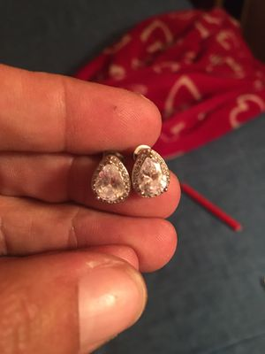 Brand new sterling silver diamond earrings for Sale in Mooresville, NC