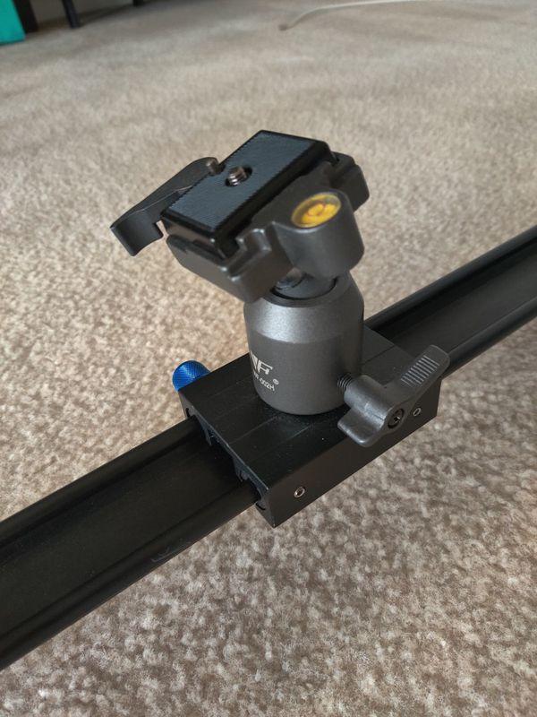 DSLR Camera Slider with Ball Head Mount