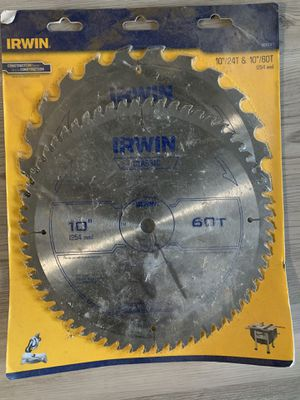 IRWIN Classic 10-in 60-Tooth Carbide Miter/Table Saw Blade for Sale in Boca Raton, FL