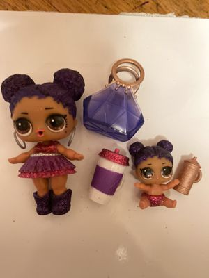 """Lol Dolls """"Purple Queen and lil sis"""" for Sale in Portland, OR"""