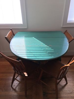 Antique wooden table and 4 chairs for Sale in Washington, DC