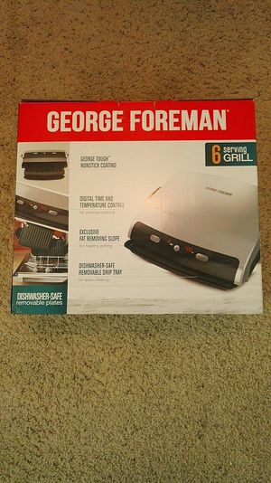 *NEW* GEORGE FOREMAN 6-grill with Panini Press for Sale in Los Angeles, CA