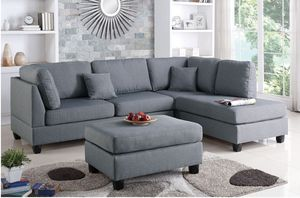 New in boxes sectional sofa (ottoman included) reversible chaise for Sale in Long Beach, CA