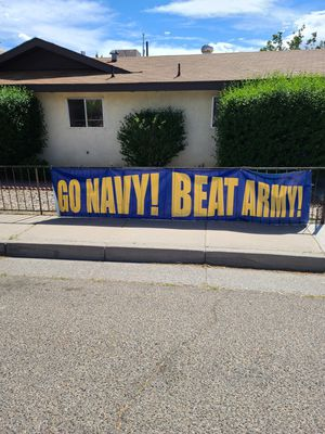 Go Navy! Beat Army official game banner for Sale in Albuquerque, NM