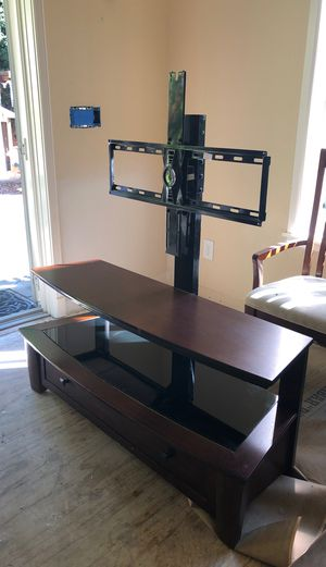 Entertainment center with built in TV mount for Sale in Sammamish, WA