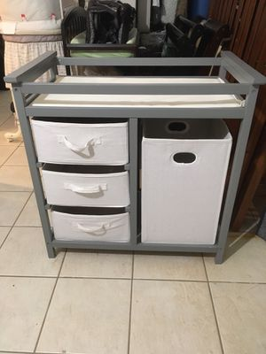 Grey Baby Changing Table & Mattress Pad for Sale in Staten Island, NY
