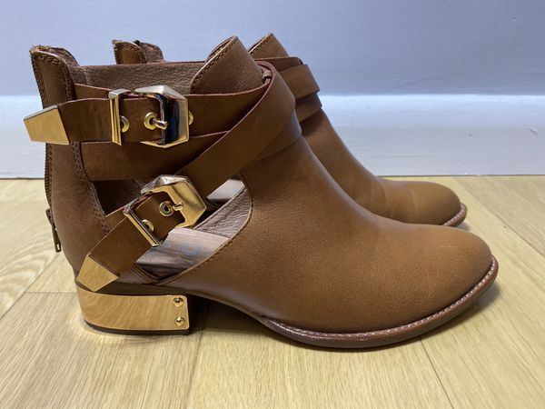 Jeffrey Campbell open on the side boots