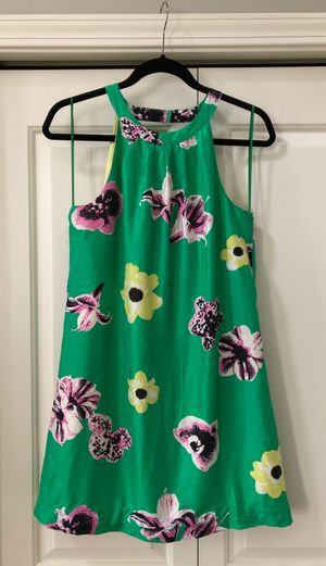 J. Crew Size 4 Dress - Green Silk with Pink and Yellow Flowers for Sale in Bothell, WA