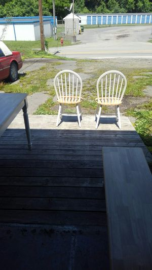 Butcher block table with bench 2 chairs for Sale in Clarksburg, WV