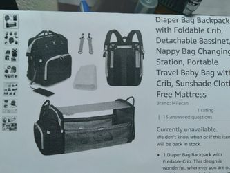 Baby Daiper Bag , Bed for Sale in San Bernardino,  CA