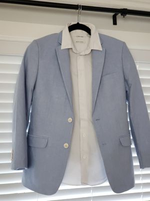 Boys 2 piece suit w/white collard button up (size 16) for Sale in Portland, OR