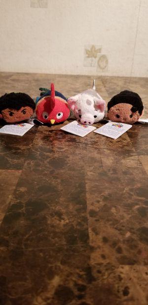 Disney Tsum Tsum Moana Mini Plush Set Lot of 4 for Sale in Florissant, MO