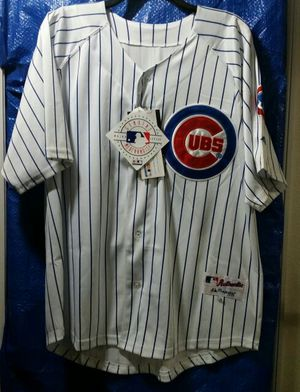 NEW NEVER USED SIZE 50 CHICAGO CUBS WHITE WITH BLUE PINSTRIPE JERSEY WITH TAGS, FINAL PRICE $45.00 NOTHING LESS WAS $95.00 for Sale in Orlando, FL