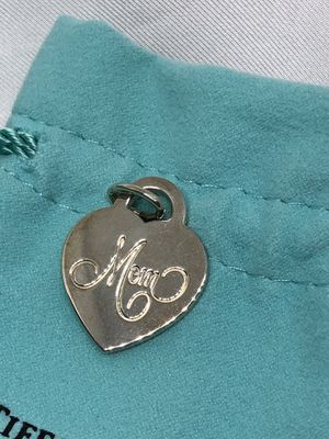 Tiffany Silver Mom Heart Charm Pendant 925 with Silver Bale for Sale in Chicago, IL