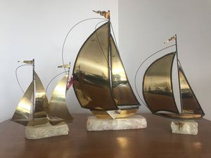 Hand Crafted Brass Sailboats by Demott for Sale in Denver, CO