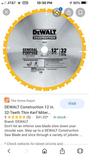 "Dewalt 12"" x32 teeth for Sale in Steubenville, OH"