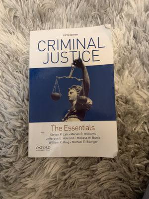 Criminal justice essentials for Sale in Lincoln, NE