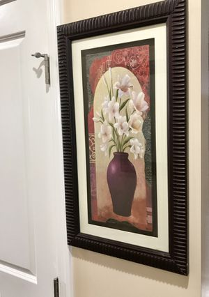 Wall Art Frame Flower Vase Decor for Sale in Natrona Heights, PA