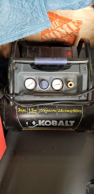 Kobalt 3-Gallon Portable 155-PSI Electric Hot Dog Air Compressor for Sale in Delray Beach, FL