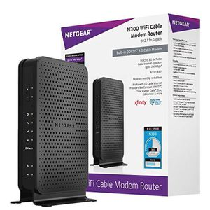 NETGEAR N300 (8x4) WiFi Cable Modem Router Combo C3000, DOCSIS 3.0 | Certified for Xfinity by Comcast, Spectrum, COX & more (C3000) for Sale in Katy, TX