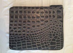 Dark grey iPad cover genuine crocodile leather for Sale in Miami, FL