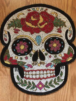Beautiful White Hand Beaded Sugar Skull Decor - Bella Calavera Blanca Hecha de Cuentas y a Mano for Sale in Chicago, IL