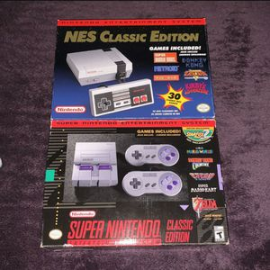 NES And Super Nintendo Classic Edition for Sale in Phoenix, AZ