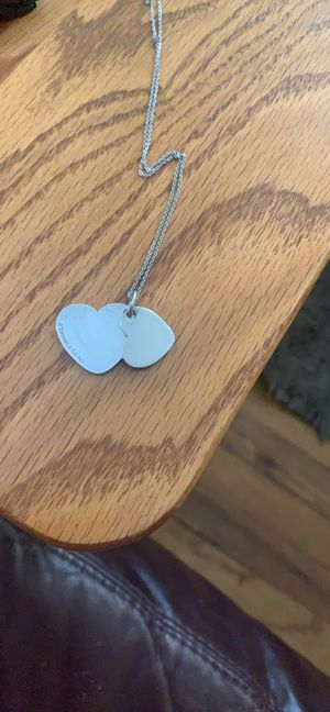 Tiffany & Co. Double Heart Pendent for Sale in Greensburg, PA