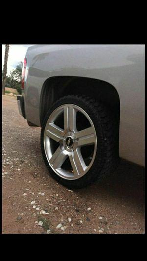 Chevy Texas Edition 24Inch Rims And Tires for Sale in Sahuarita, AZ