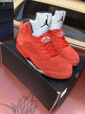 Red Suede Air Jordan Retro 5   Size 9 for Sale in Fort Worth, TX