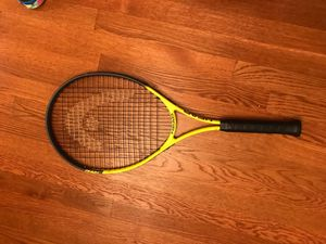Yellow and Black Head Adult Tennis Racket for Sale in McLean, VA