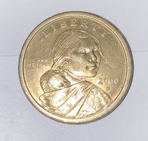2000-P CHEERIOS sacagawea One Dollar Coin, extremely rare, beautiful Detailed Eagle and feathers in reverse of coin. Circulated! for Sale in Tyler, TX