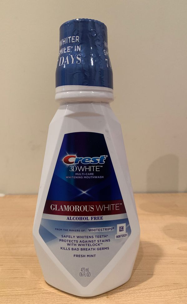 Crest 3D White Glamorous White whitening mouthwash 16 oz