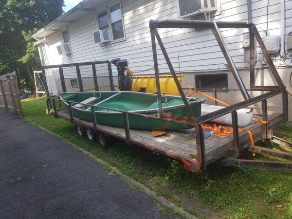 22x7 triple axle car trailer