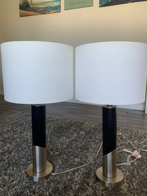 2 Lamp Shades - Silver & Black for Sale in Federal Way, WA