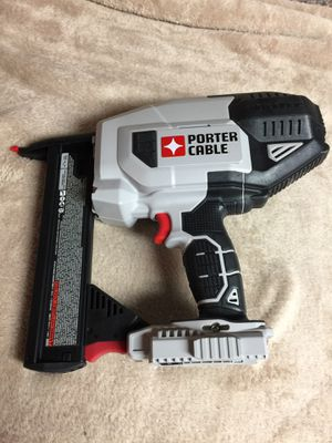 BRAND NEW Porter Cable Narrow Crown Nailer in the box Battery and Charger included for Sale in Port Richey, FL