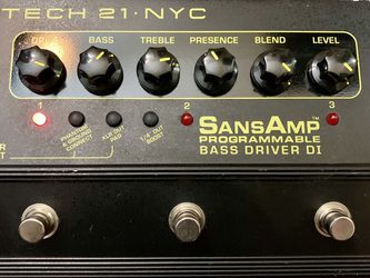 Sansamp Programmable Bass Driver DI Pedal for Sale in Los Angeles,  CA