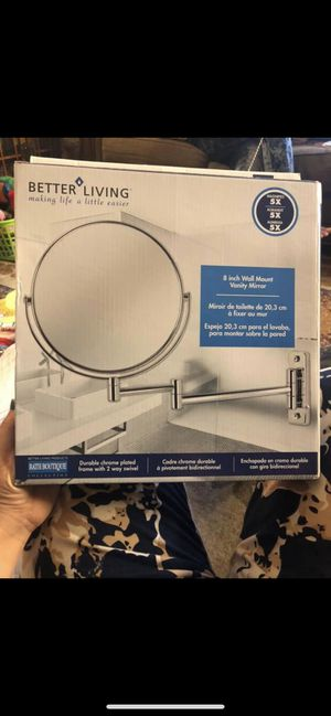 Wall Mount Mirror with Folding Arm, Chrome for Sale in Lancaster, PA