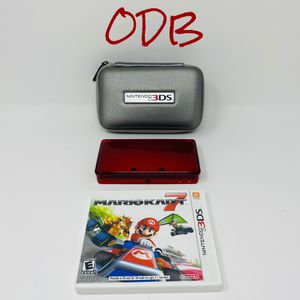 3DS Flame Red w/ Mario Kart - Nintendo for Sale in Kansas City, MO