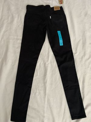 NEW 710 SUPER SKINNY GIRLS LEVIS BLACK SIZE 16 for Sale in Fontana, CA