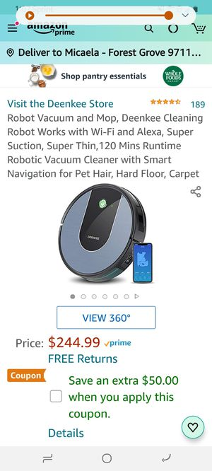 Unopened robotic vacuum for Sale in Forest Grove, OR