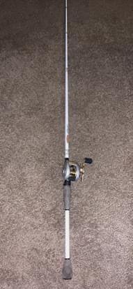 "Shimano chronarch 100mg and Duckett Rod 7'3"" hvy for Sale in Abilene, TX"